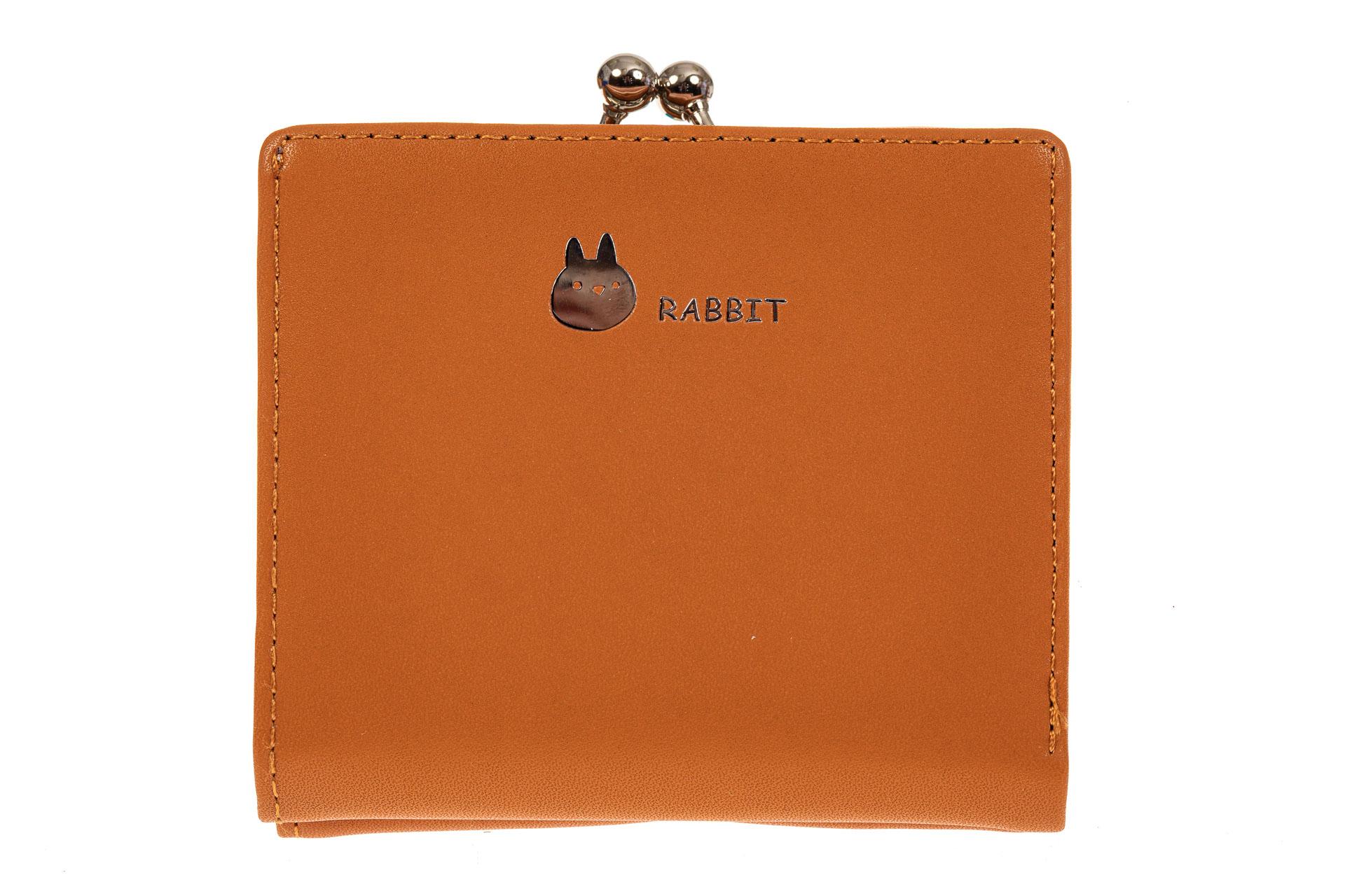 На фото 1 - Кошелек-портмоне из искусственной кожи, цвет оранжевый