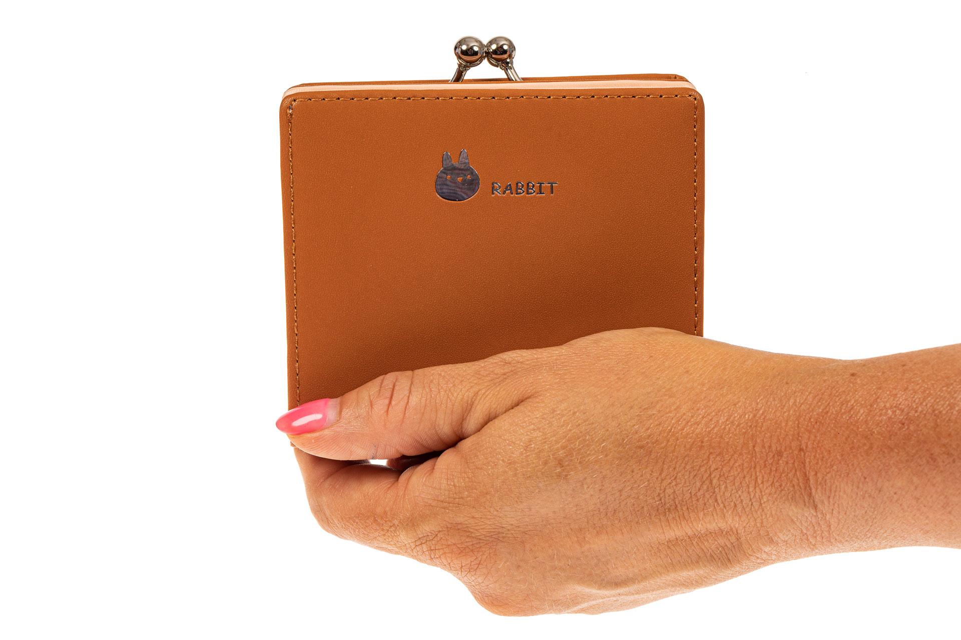 На фото 3 - Кошелек-портмоне из искусственной кожи, цвет оранжевый