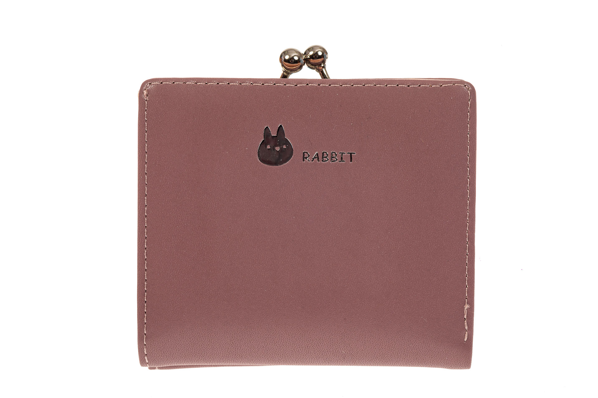 На фото 1 - Кошелек-портмоне из искусственной кожи, цвет пудра