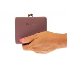 На фото 3 - Кошелек-портмоне из искусственной кожи, цвет пудра