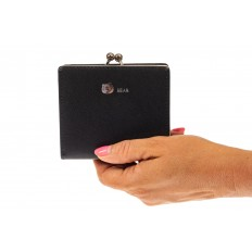 На фото 3 - Кошелек-портмоне из искусственной кожи, цвет черный