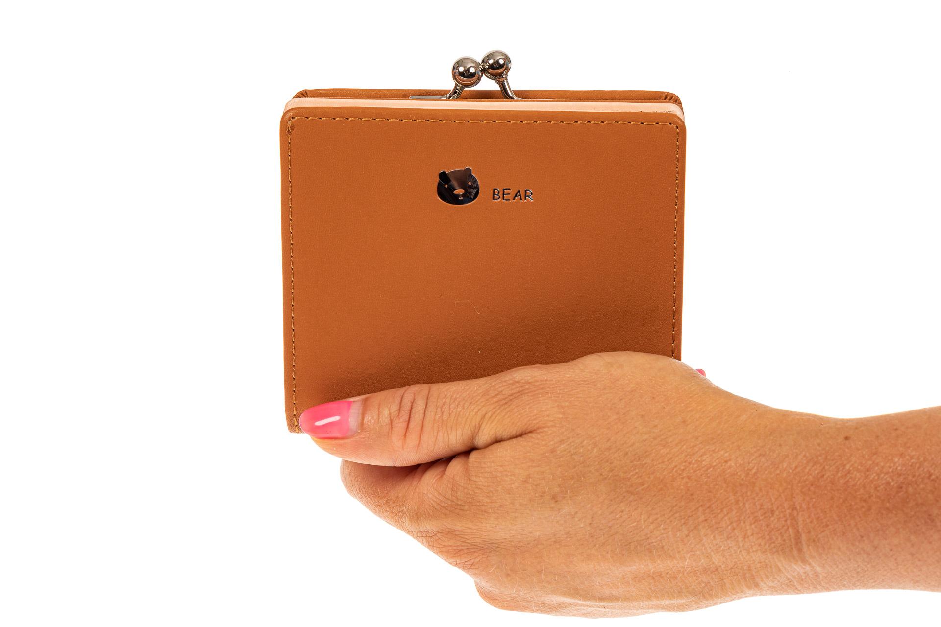 На фото 3 - Кошелек-портмоне из искусственной кожи, цвет рыжий