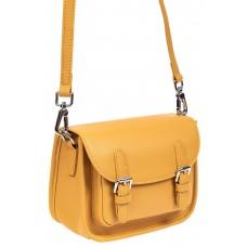 На фото 1 - Кожаная сумка Saddle Bag, цвет рыжий