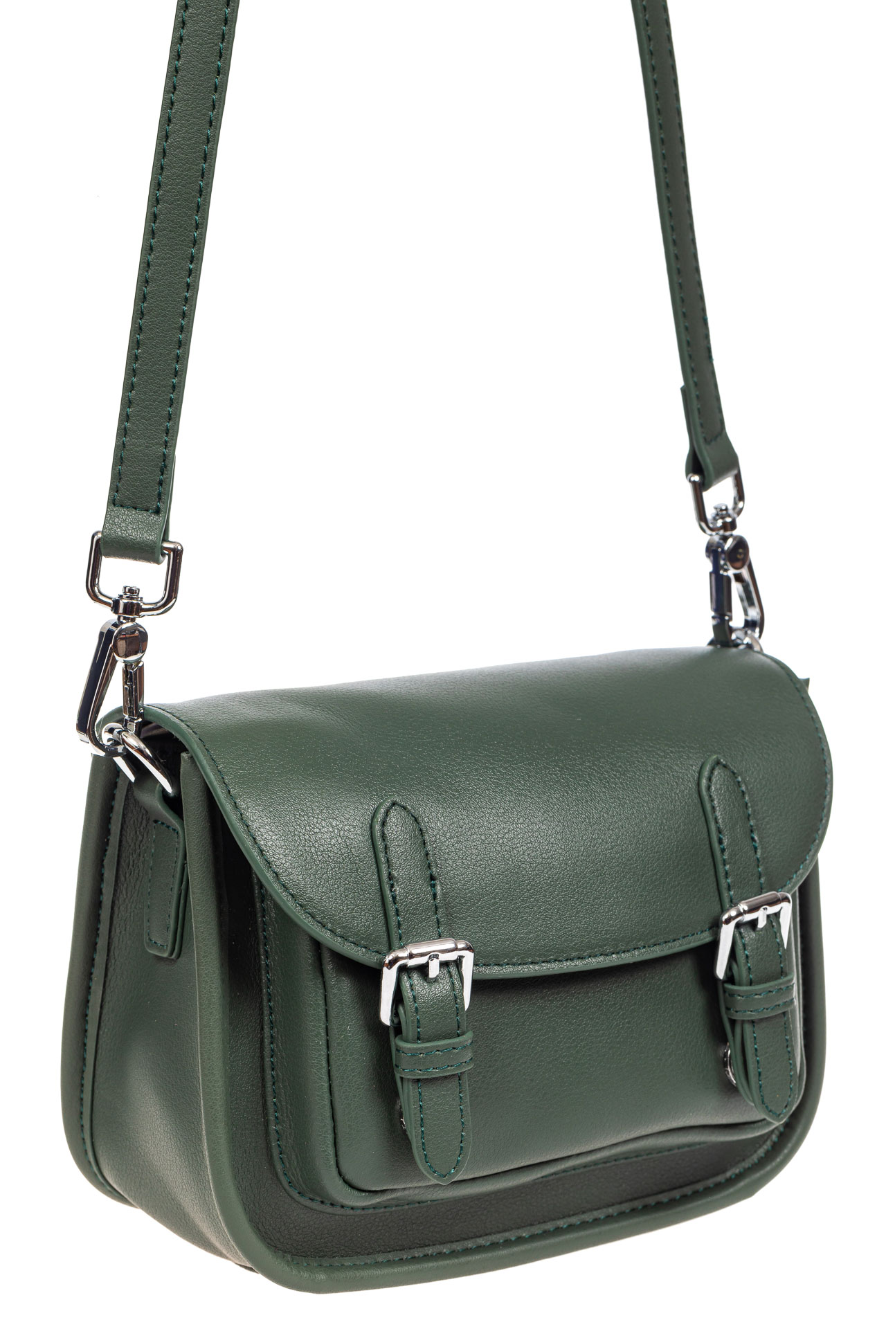Кожаная сумка Saddle Bag, цвет зеленый9682NK0420/7
