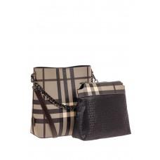 На фото 1 - Женская сумка ведерко из искусственной кожи...