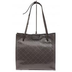 На фото 3 - Стеганая женская сумка из искусственной кожи, цвет серый