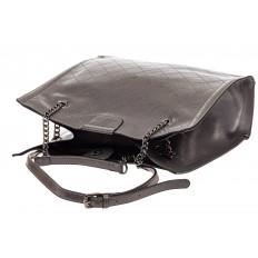 На фото 4 - Стеганая женская сумка из искусственной кожи, цвет серый