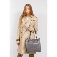 На фото 5 - Стеганая женская сумка из искусственной кожи, цвет серый