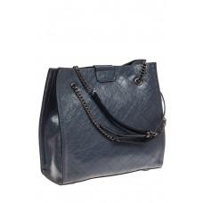 На фото 1 - Стеганая женская сумка из искусственной кожи, цвет голубой