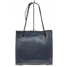 На фото 3 - Стеганая женская сумка из искусственной кожи, цвет голубой