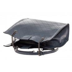 На фото 4 - Стеганая женская сумка из искусственной кожи, цвет голубой