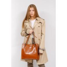На фото 5 - Стеганая женская сумка из искусственной кожи, цвет рыжий