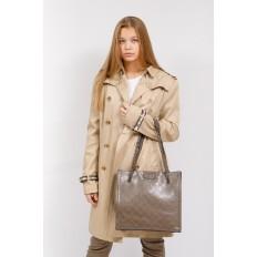 На фото 5 - Стеганая женская сумка из искусственной кожи, цвет коричневый
