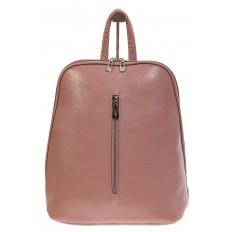 На фото 2 - Лаконичный рюкзак из искусственной кожи розового цвета