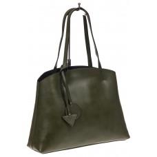 На фото 1 - Мягкая сумка-шоппер из натуральной кожи, цв...