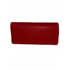 На фото 1 - Кожаный женский кошелёк портмоне, цвет красный