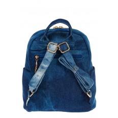 На фото 3 - Джинсовый рюкзак со звездами 9950-35