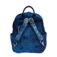 На фото 3 - Женский рюкзак из джинсы синего цвета 9995-35