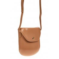 На фото 1 - Женская сумка-кобура из искусственной кожи, цвет пудра