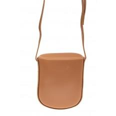 На фото 3 - Женская сумка-кобура из искусственной кожи, цвет пудра