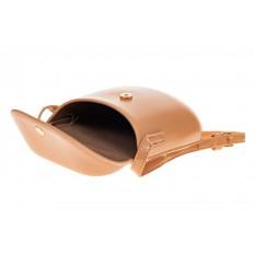 На фото 4 - Женская сумка-кобура из искусственной кожи, цвет пудра