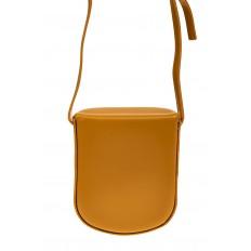 На фото 3 - Женская сумка-кобура из искусственной кожи, цвет горчичный