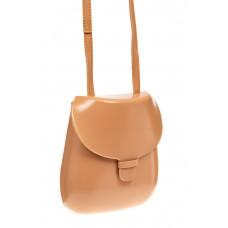 На фото 1 - Женская сумка-кобура из эко-кожи, цвет пудр...