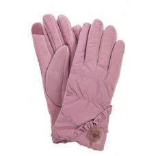 На фото 1 - Перчатки женские зимние с мехом, цвет розовый