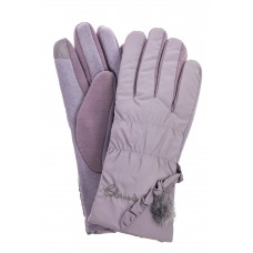 На фото 1 - Перчатки женские зимние с мехом, цвет серый