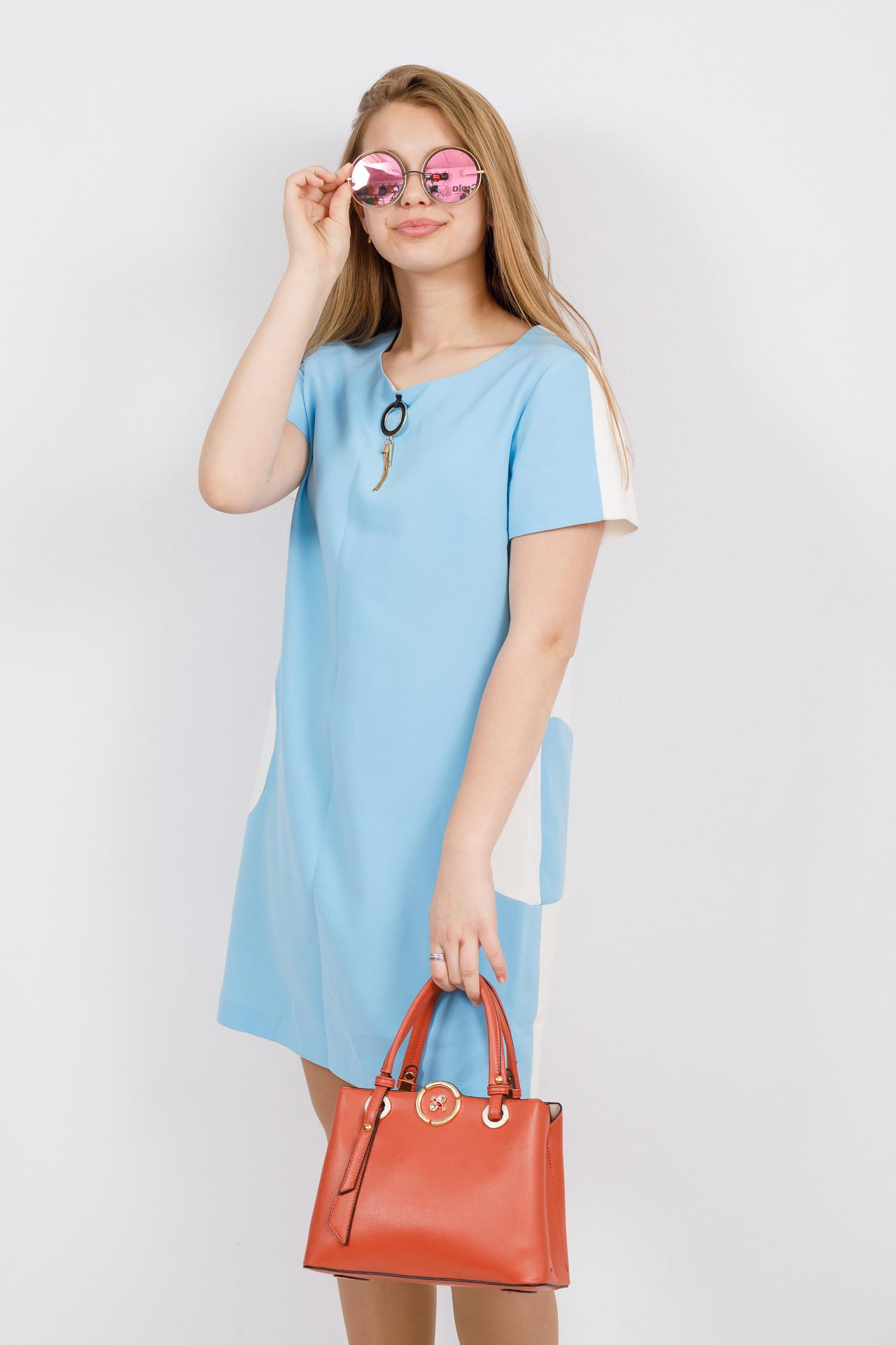 На фото 4 - Классическая женская сумка из искусственной кожи, цвет кирпичный