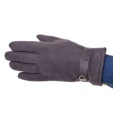 На фото 1 - Перчатки мужские из велюра, цвет серый
