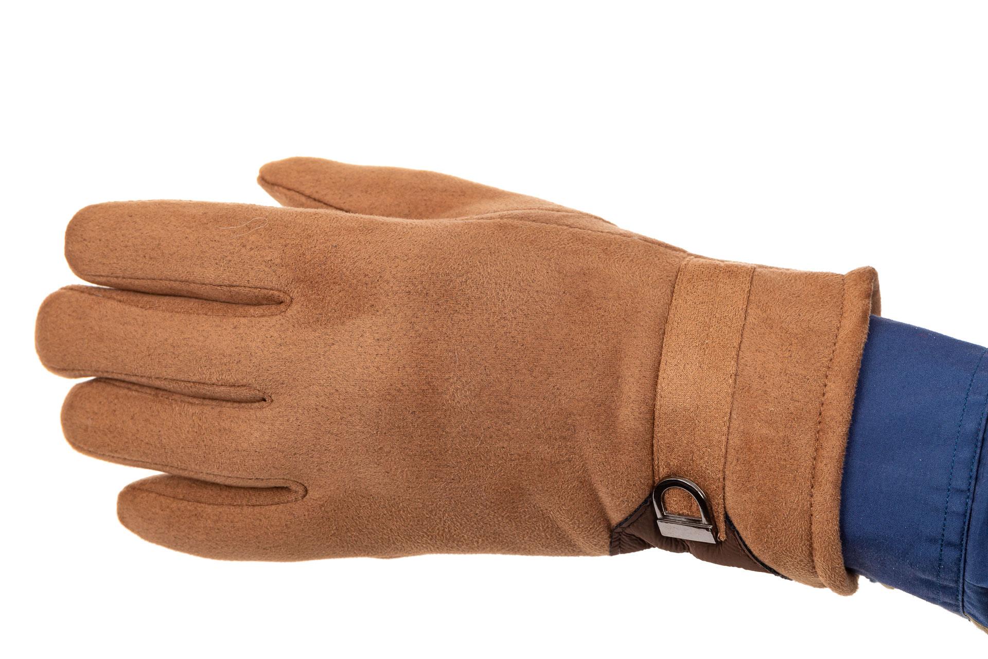 На фото 1 - Недорогие теплые перчатки мужские, цвет рыжий