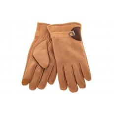 На фото 2 - Недорогие теплые перчатки мужские, цвет рыжий