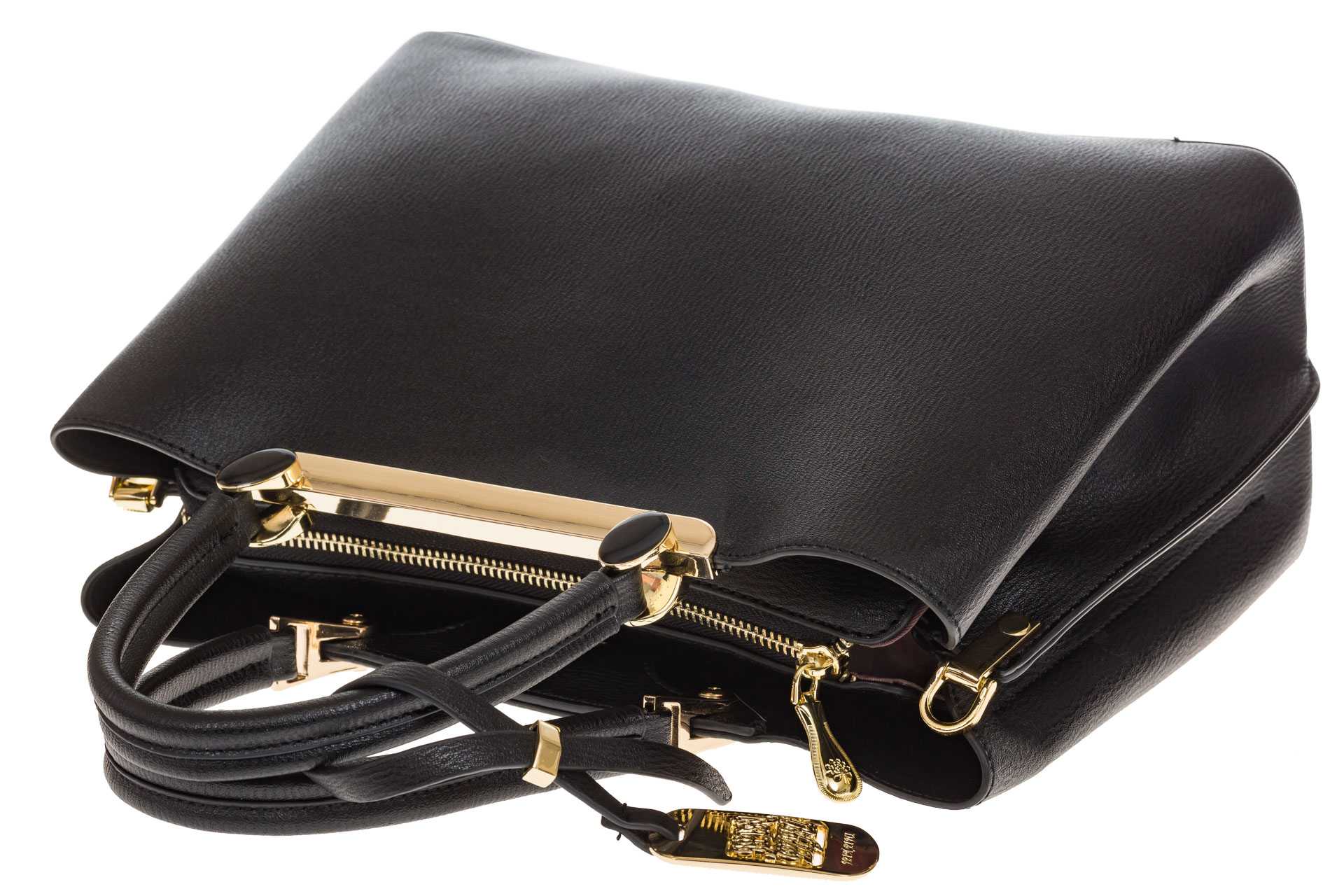 На фото 4 - Строгая женская сумка из искусственной кожи, цвет черный