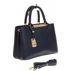 На фото 1 - Строгая женская сумка из искусственной кожи, цвет синий