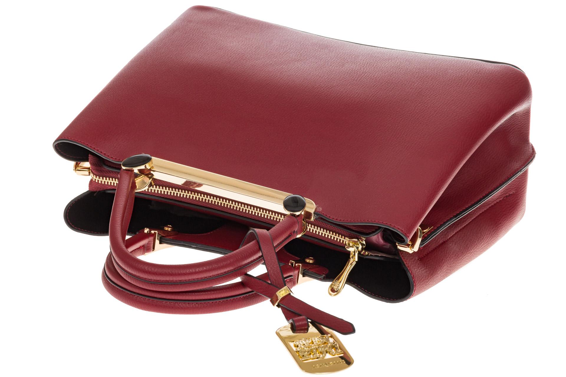 На фото 4 - Строгая женская сумка из искусственной кожи, цвет красный