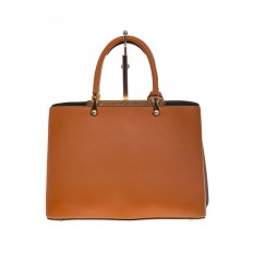 На фото 3 - Строгая женская сумка из искусственной кожи, цвет рыжий