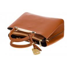 На фото 4 - Строгая женская сумка из искусственной кожи, цвет рыжий