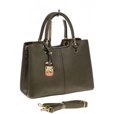 На фото 1 - Женская сумка из искусственной кожи, цвет з...