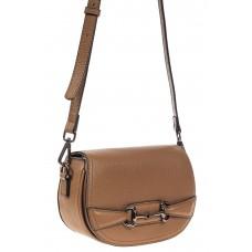 На фото 1 - Маленькая сумка-почтальонка из натуральной кожи, цвет рыжий