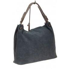 На фото 1 - Большая сумка из натуральной замши, цвет се...
