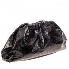 На фото 1 - Сумка женская с фермуаром из искусственной кожи, цвет черный