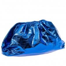 На фото 1 - Сумка женская с фермуаром из искусственной кожи, цвет синий