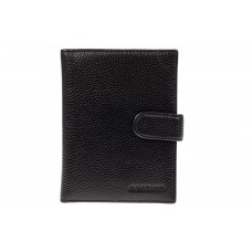 На фото 1 - Мужской кошелек-портмоне из натуральной кожи, цвет черный