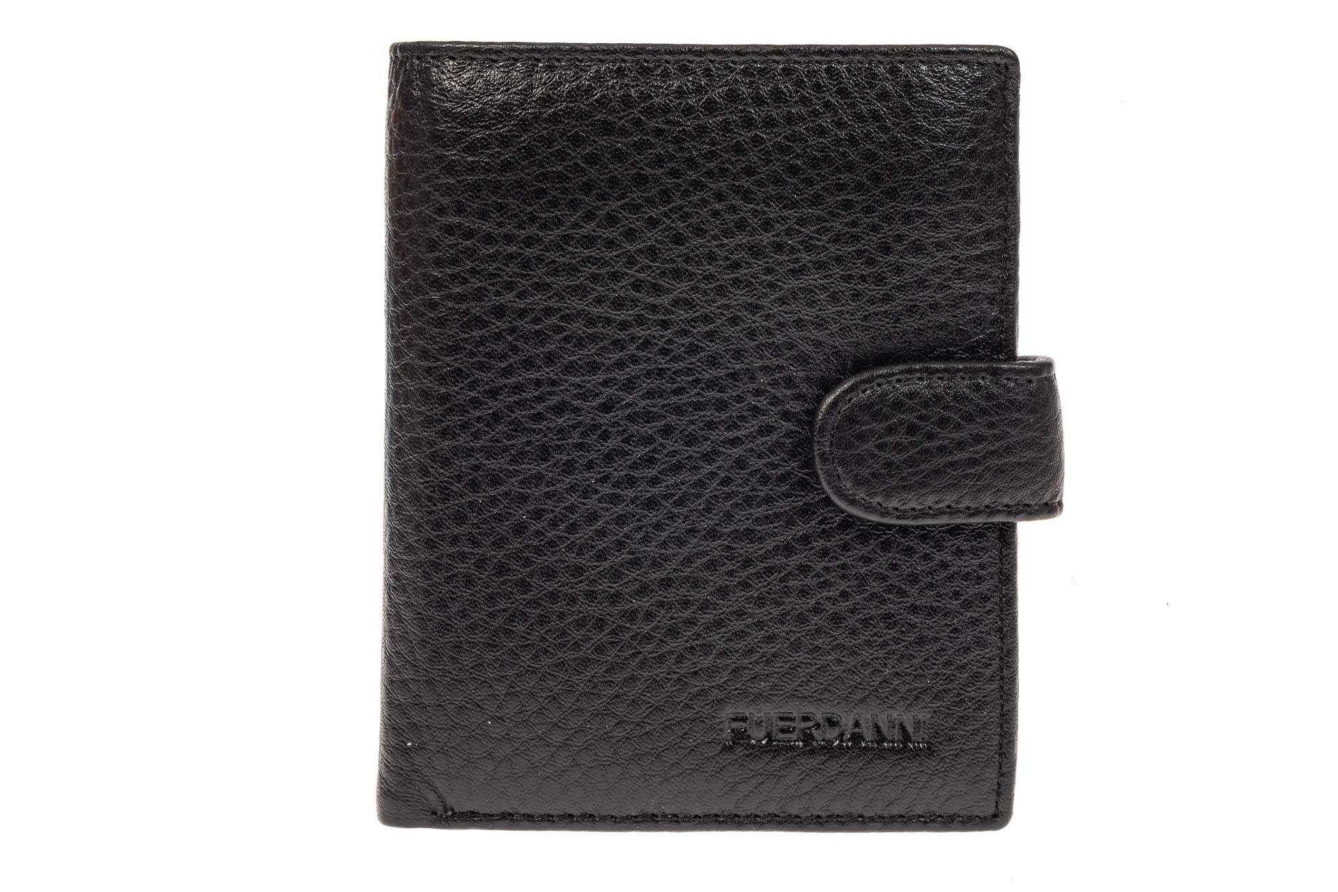 На фото 1 - Небольшое мужское портмоне из натуральной кожи, цвет черный