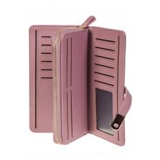 На фото 2 - Женское портмоне розового цвета из искусственной кожи