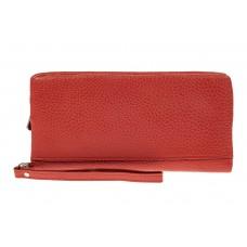 На фото 1 - Женский кошелек из натуральной кожи, цвет р...