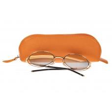 На фото 1 - Футляр-пенал из натуральной кожи, цвет оран...