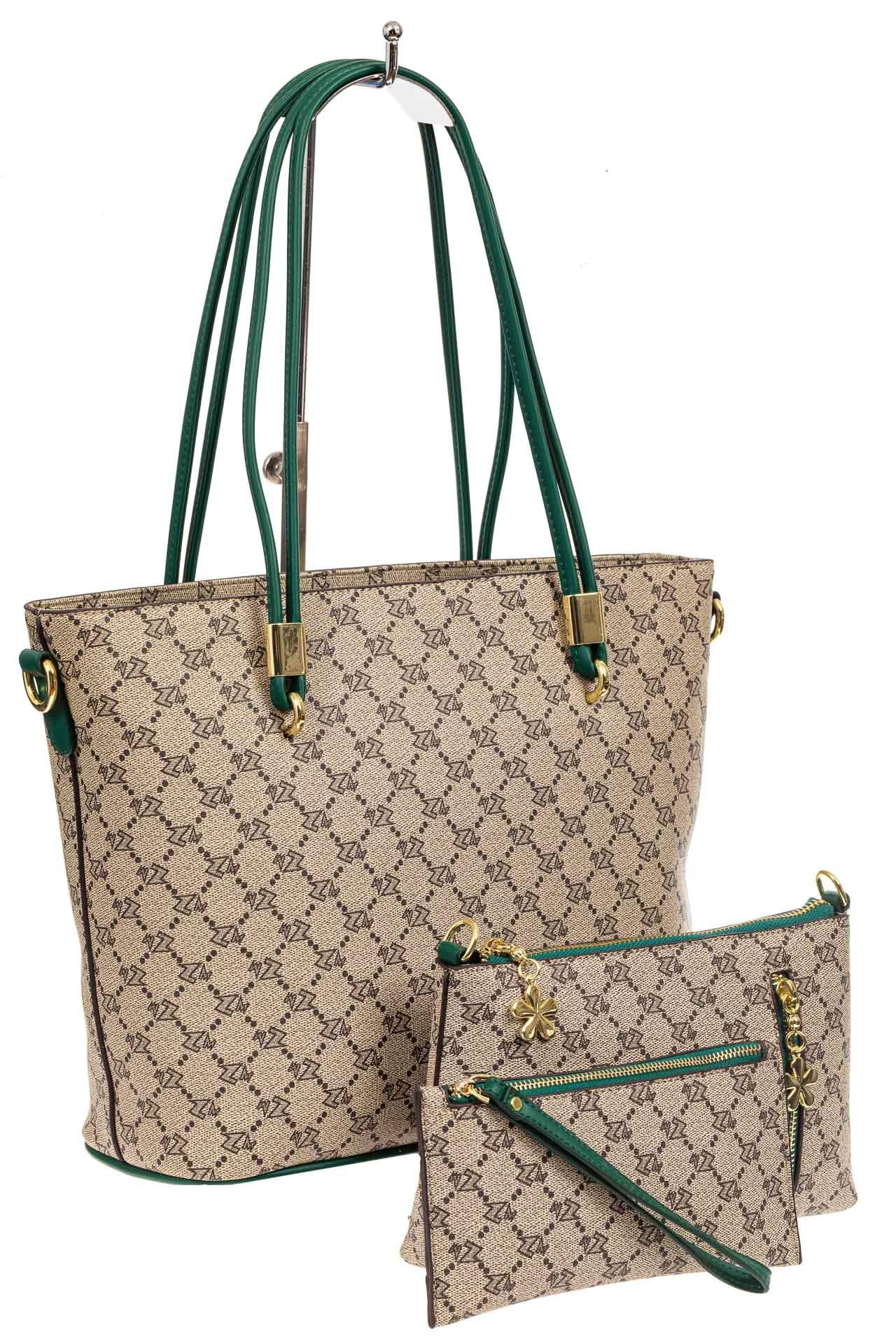 Женская сумка шоппер из искусственной кожи, цвет бежевыйA17236-1PJ0520/1
