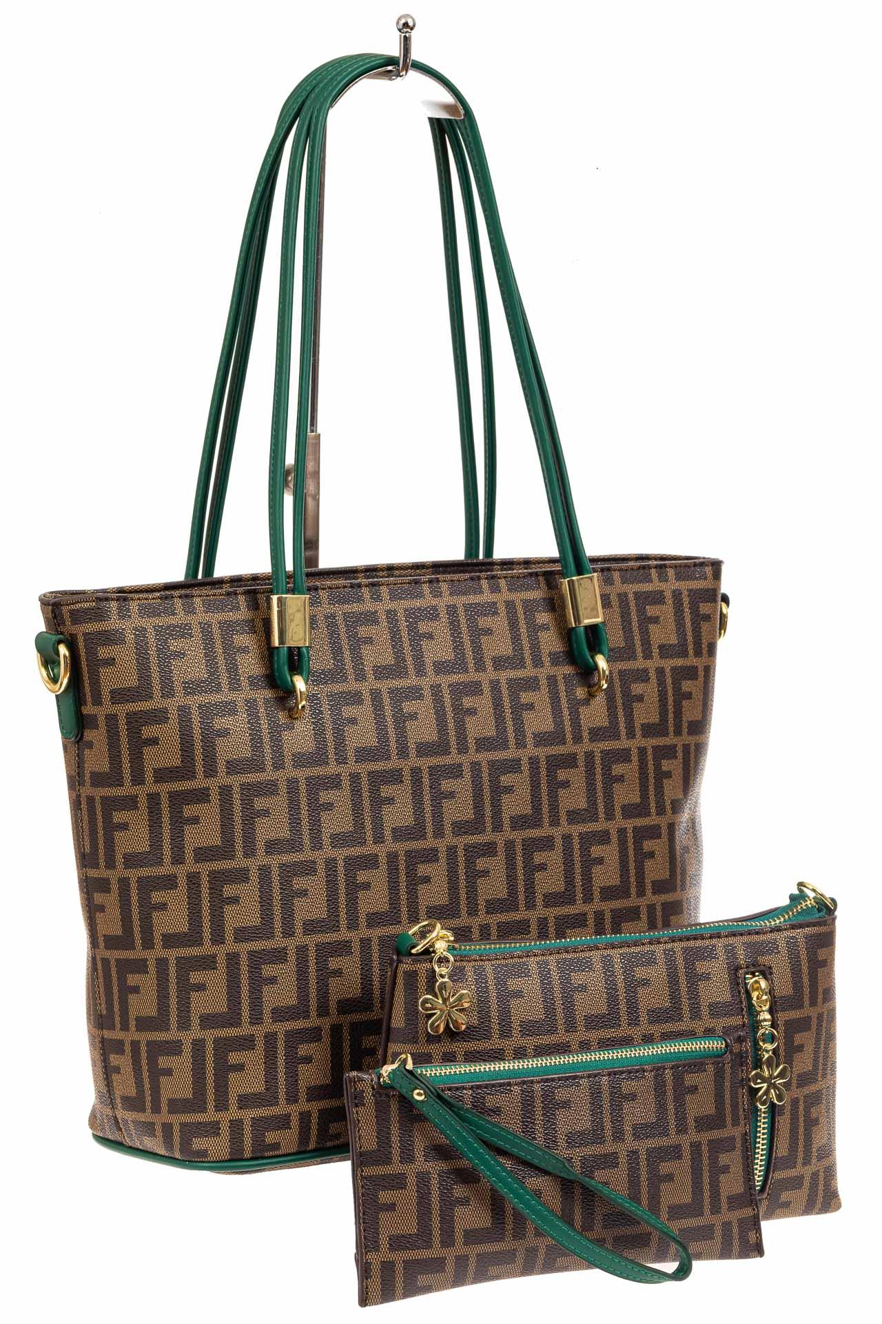 Женская сумка шоппер из искусственной кожи, цвет шоколадA17236-1PJ0520/4